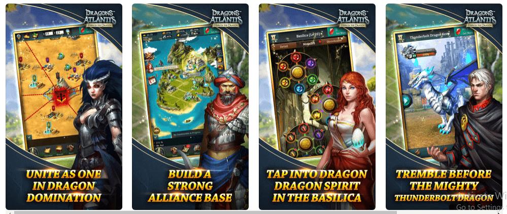 تحميل لعبه Dragons of Atlantis مجانا