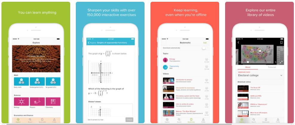 تحميل تطبيق التعليم المجاني عبر الانترنت Khan Academy