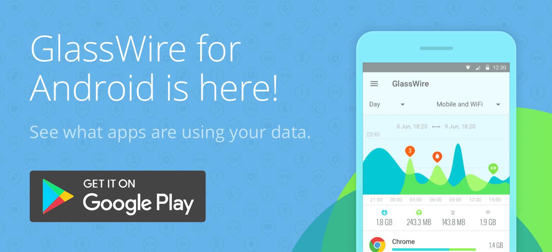 صورة تحميل تطبيق GlassWire لمراقبة بيانات الجوال لهواتف للاندرويد